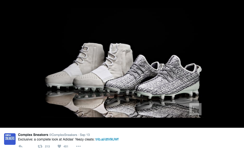 77a0a868eebe Kanye West cleats banned from NFL - Lifestylescoop